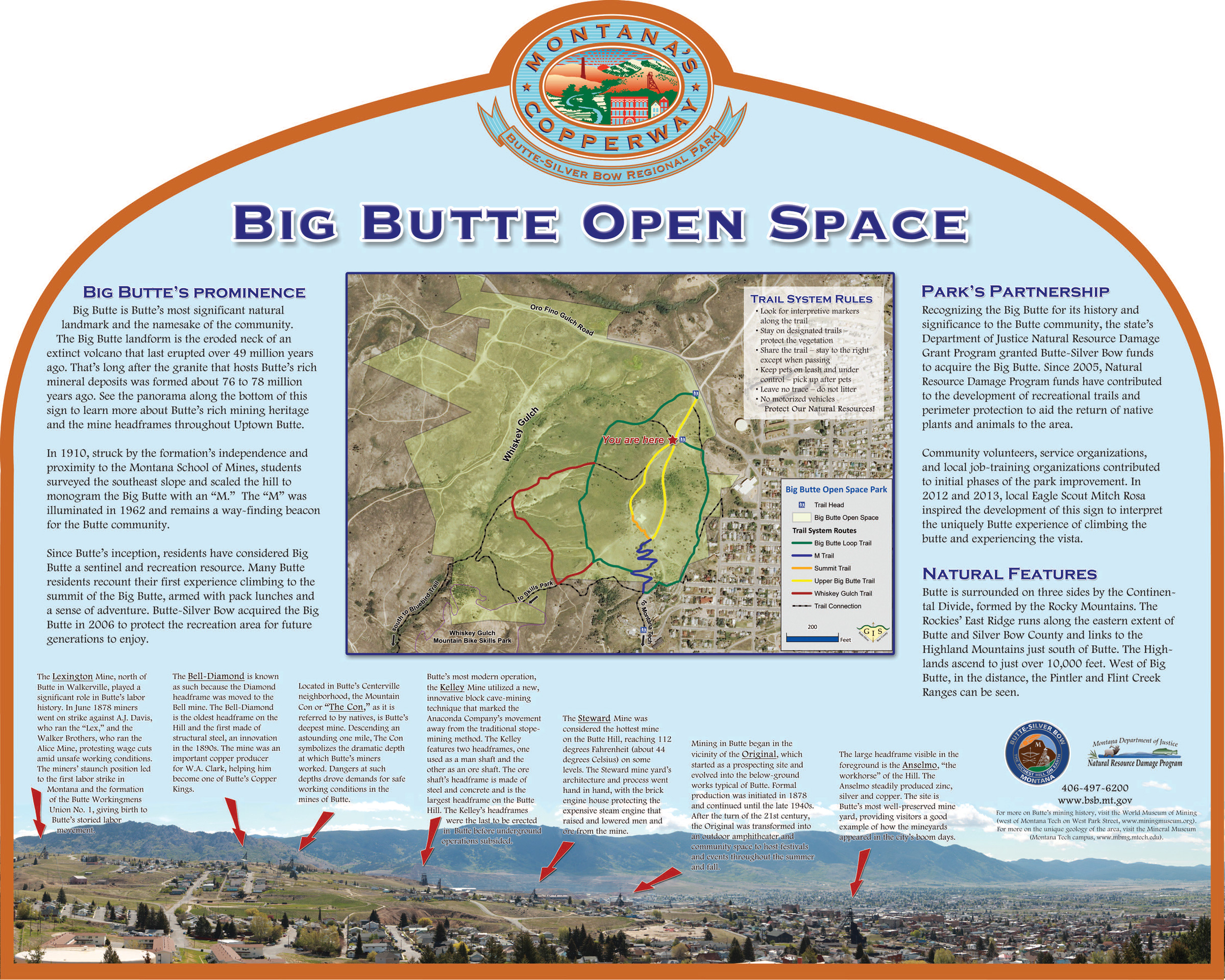 Trails Outdoor Recreation City And County Of ButteSilver Bow MT - Mt us map