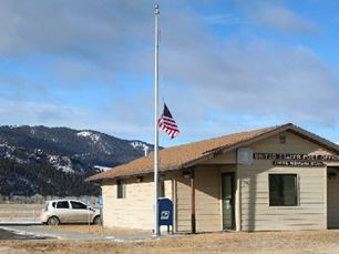 The Divide post office in Silver Bow County, Montana