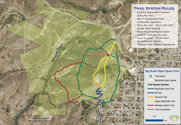 Map of the Big Butte Open Space Park
