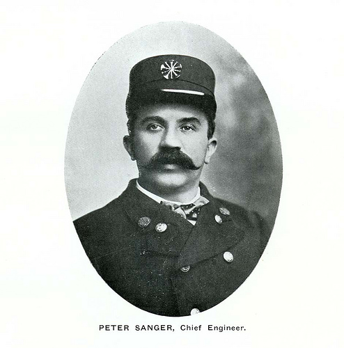 Peter Sanger, Chief Engineer, Butte Fire Department, ~ 1901