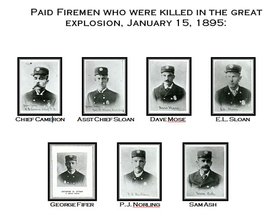 Firemen who lost their lives in the great disaster of 1895 in Butte, Montana