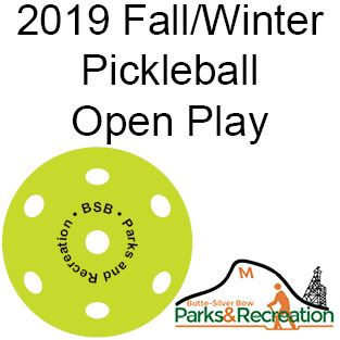 2019 fall_winter Pickleball Open Play News Flash