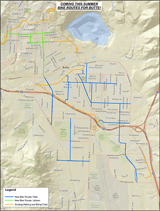 Butte bike routes map