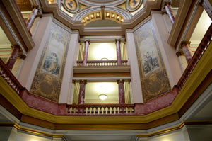 The interior of the Butte-Silver Bow Courthouse, photo by KXLF TV.