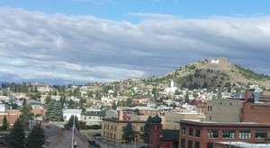 Big Butte hill with the famous M in Butte, Montana. Photo by Shelly Jones.