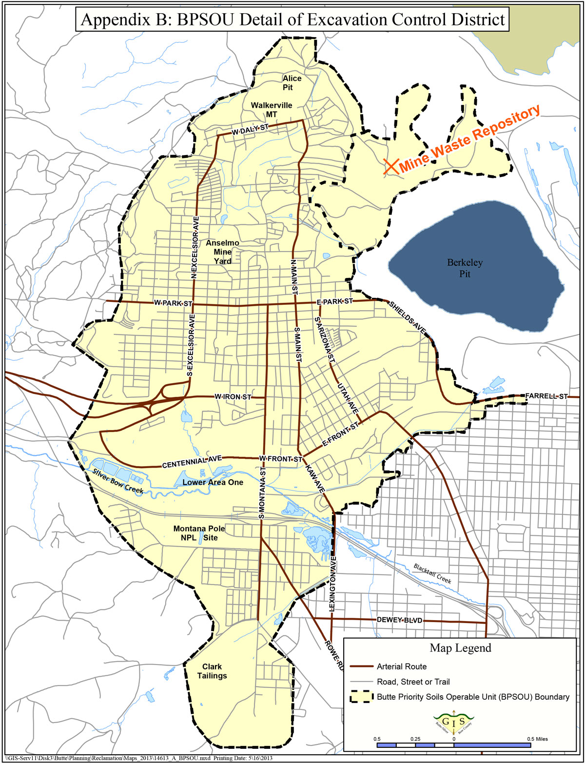 Butte Excavation Control District Map