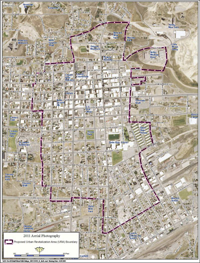 Map: Butte Uptown Urban Renewal District Boundary 2014 (jpg, sm)