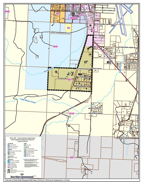 Proposed South Butte TEDD Map