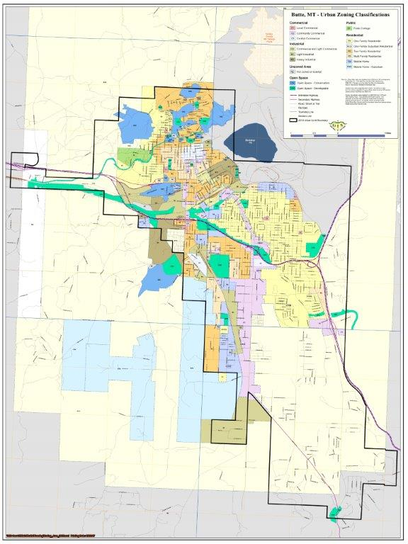 Butte-Silver Bow Urban Zoning Classification June 2017