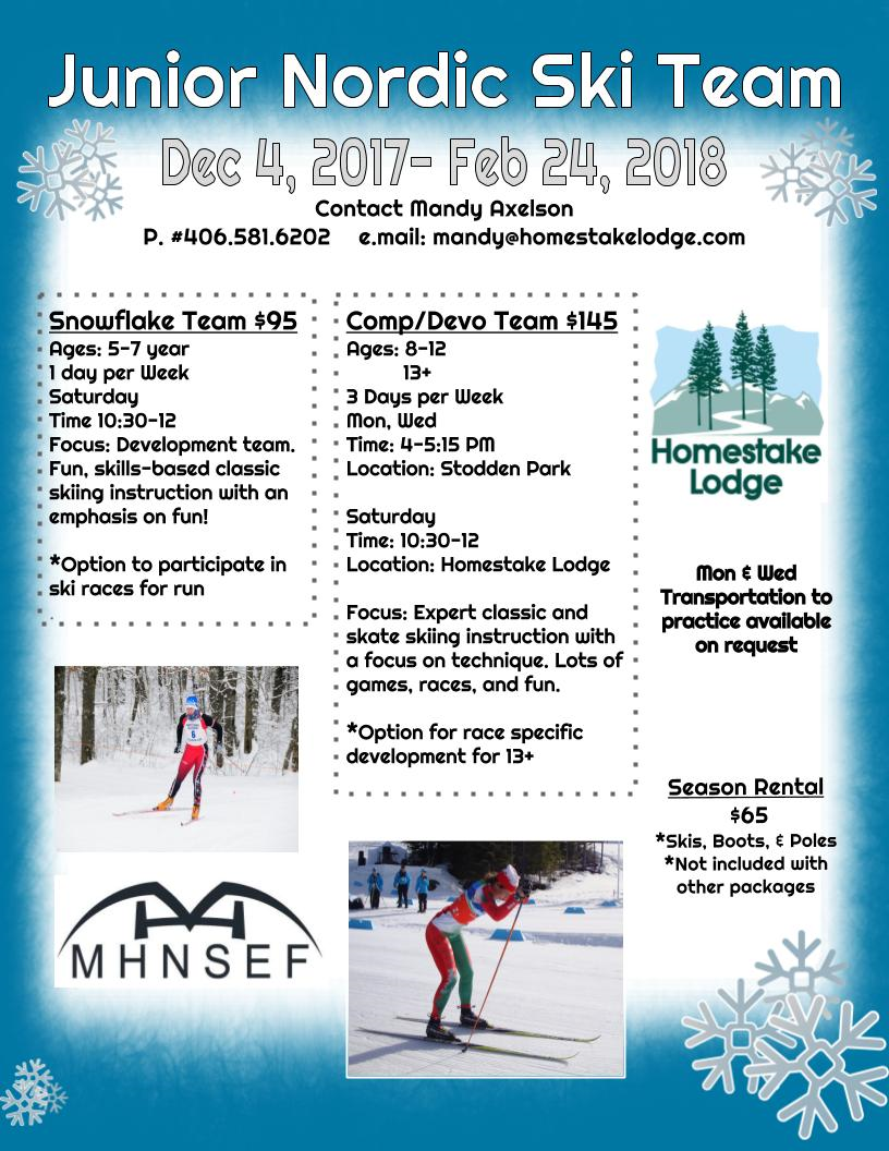 Junior nordic ski team