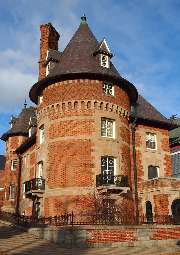 The exterior of the Clark Chateau