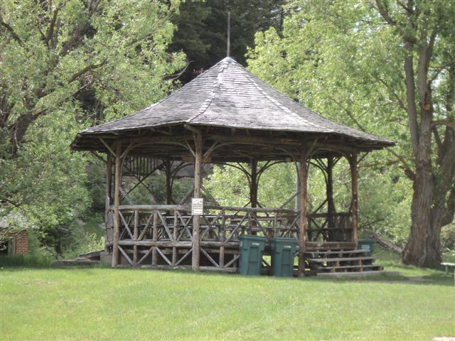 The pavilion at Basin Creek, Butte, Montana